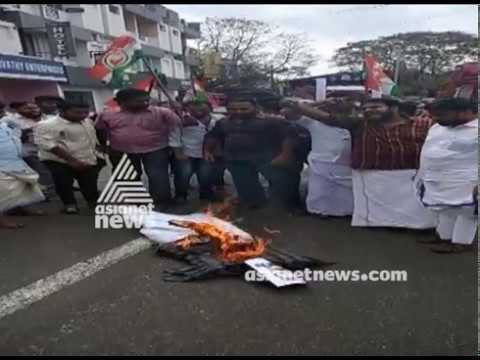 Protest fumes against Mukesh in Kollam