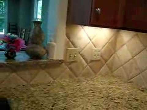 Diagonal Travertine tile backsplash  YouTube