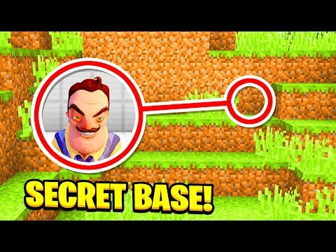 WE FOUND HELLO NEIGHBORS SECRET BASE! (Ps3/Xbox360/PS4/XboxOne/PE/MCPE)