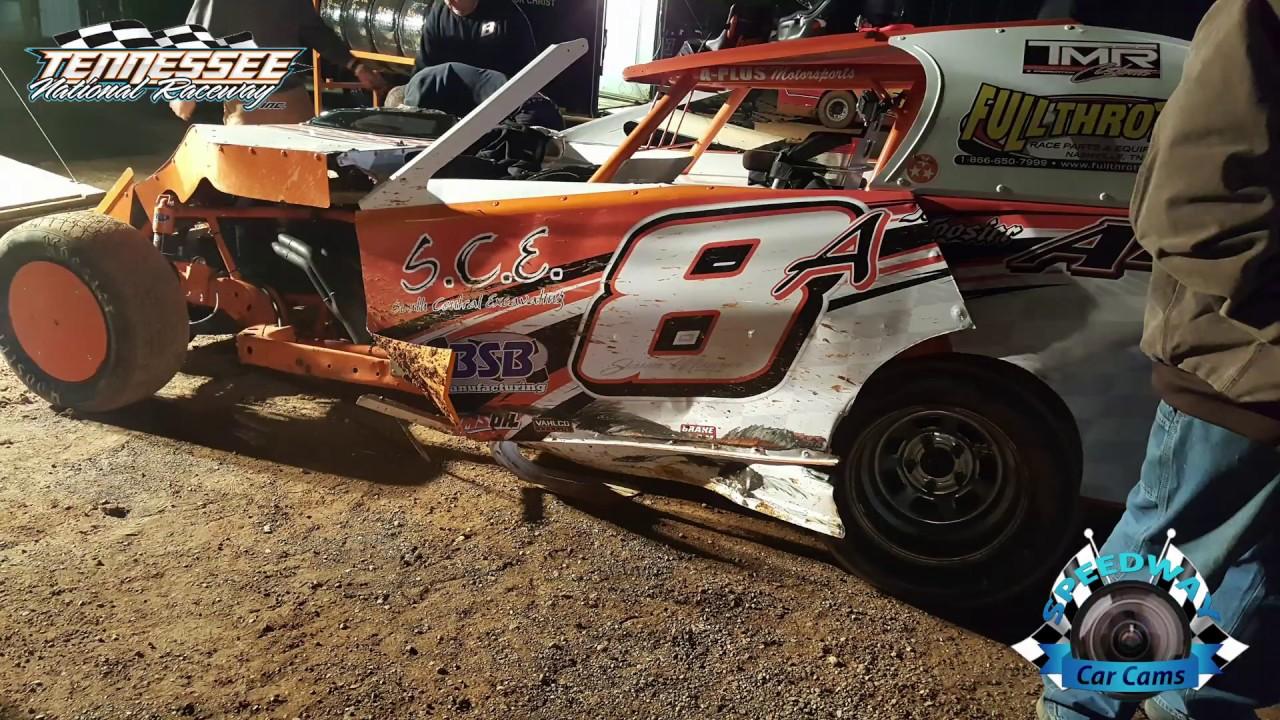 #8A Jason Maurer - Emod - 3-4-17 Tennessee National Raceway - Dirt Track  In-Car