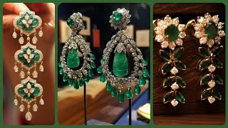Brilliant and Elegant Emerald Stone Earrings Collections/Latest Idea's of Trendy Earrings
