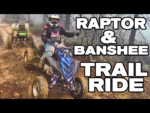 RAPTOR AND BANSHEE ATV TRAIL RIDING ADVENTURE SECOND HALF