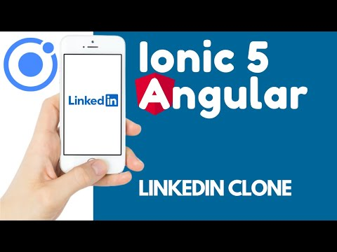 Ionic 5 Angular 11 Authentication Pages UI & Template Driven Form   LinkedIn Clone [7]