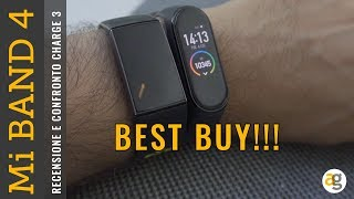 Recensione Mi BAND 4 Xiaomi BEST BUY! E confronto FitBit charge 3