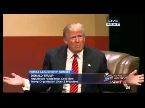 Donald Trump 2015 Family Leadership Summit FULL