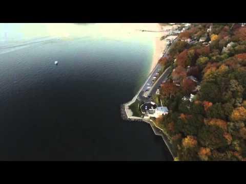DJI Phantom 3p Beautiful fall Colors Hempstead Harbor Long Island N.Y.