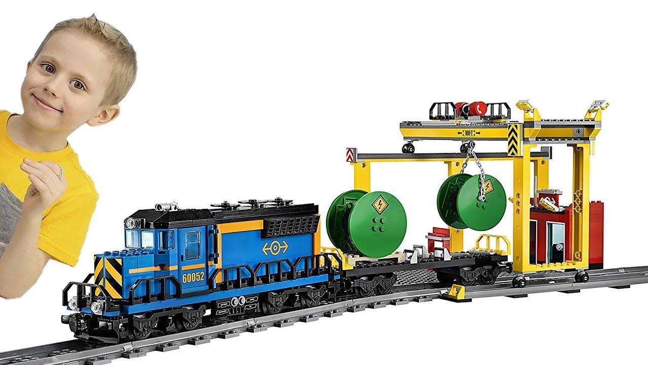 МАШИНКИ для Мальчиков и Поезд Лего Сити на радиоуправлении ...