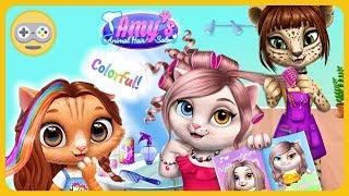 Кошачий салон красоты Эми - Сделай кошек модными и стильными * Игра для девочек на Kids PlayBox