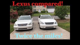 A pair of lexus ls430 s pov walk around comparing apples to apples
