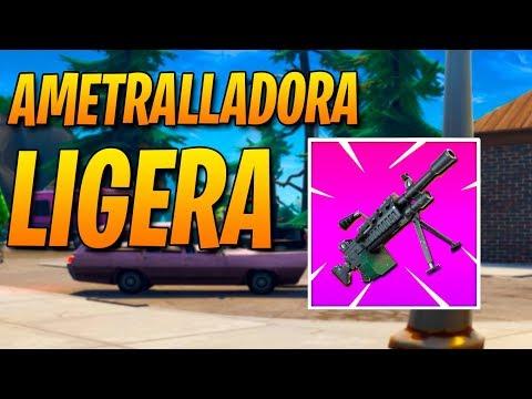 JUGANDO con NUEVA *AMETRALLADORA LIGERA* FORTNITE: Battle Royale
