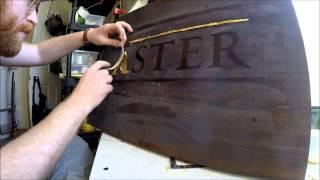 Gold Leaf Lettering on Wood - Traditional Gilded Sign - Aster - San Francisco