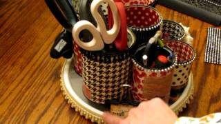 Rotating Tin Can Organizer / Pro 31 Designs