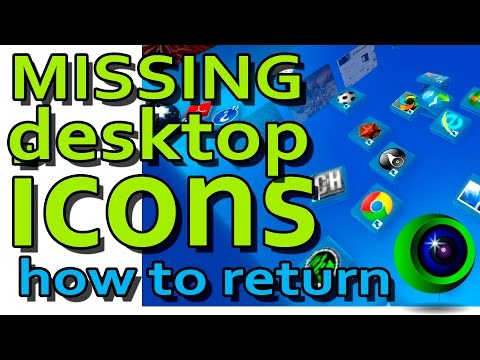 Missing desktop icons win8 10. Пропали значки рабочего стола windows 8 10
