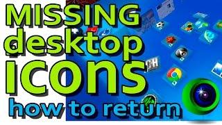 Missing desktop icons win8 10. Пропали значки рабочего стола windows 8 10(Если видео помогло, не забудьте поставить палец вверх, и подписаться. Это Ваш посильный вклад в нашу работу...., 2015-10-06T11:07:40.000Z)