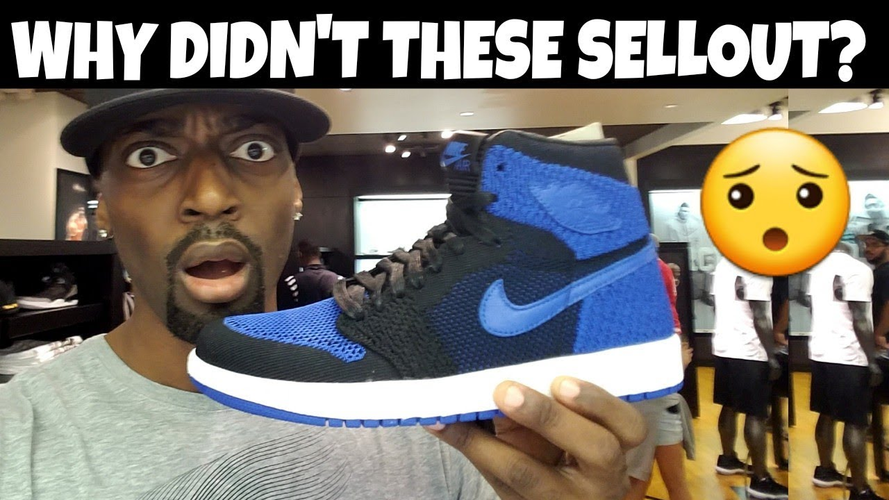 more photos 3d346 d809a JORDAN 1 ROYAL FLYKNIT DIDNT SELLOUT  THEY ARE DOPE THO   MALL VLOG