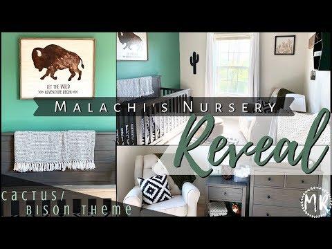 Malachi's Nursery REVEAL!! | Cactus/Bison Theme | Unique Boy Nursery
