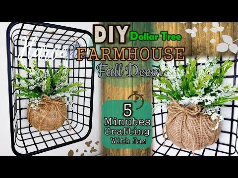 5 MINUTES CRAFTING No. 11 | DOLLAR TREE DIY | FARMHOUSE FALL DECOR