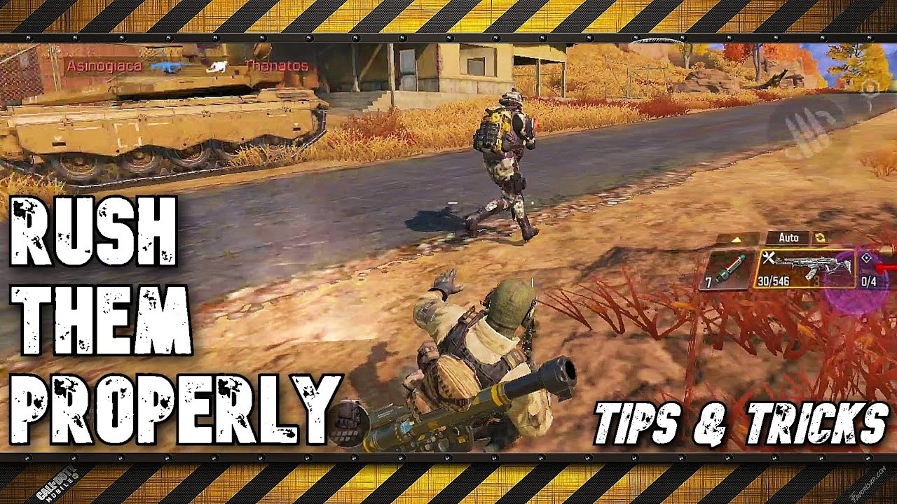 How to rush on them properly - Call of Duty Mobile - Battle Royale - Tips and Tricks