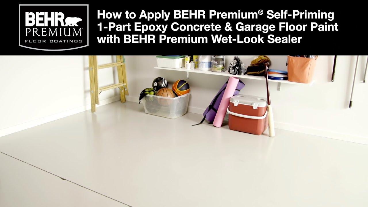 How To Apply Behr Premium 1 Part Epoxy Concrete Garage Floor