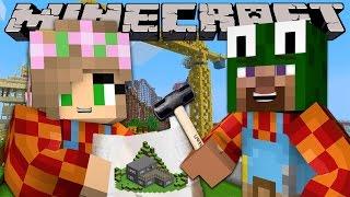 Minecraft - BUILD BATTLES - CASTLE BUILD OFF!