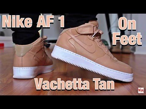 "Nike Air Force 1 Mid ""Vachetta Tan"" ON FEET + FULL LOOK"