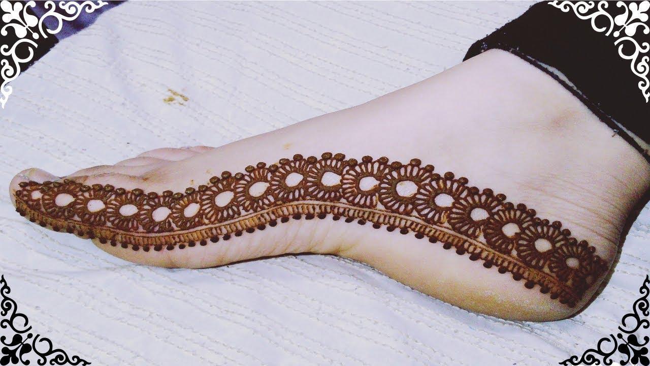 mehndi design only foot