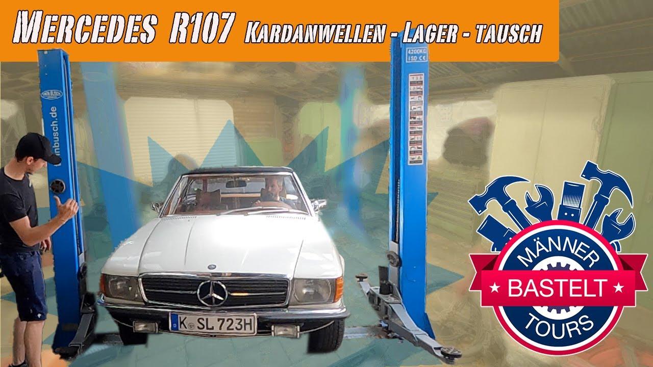 Männertours bastelt - Mercedes Sl  R107 Kardanwellen - Lager - Tausch