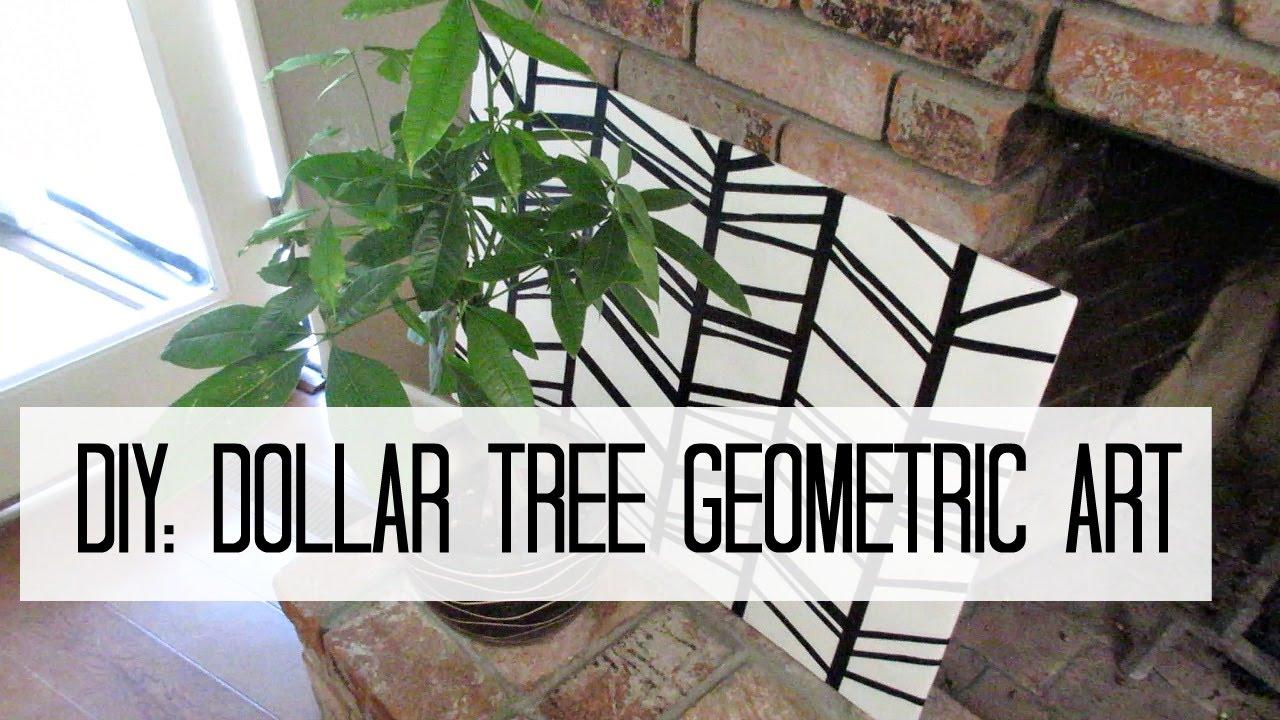 Diy dollar tree geometric wall art youtube for Geometric wall art diy