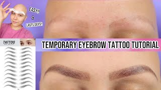 TEMPORARY EYEBROW TATTOO TUTORIAL | HOW I DO MY BROWS WITH ALOPECIA | DIY EYEBROW TATTOO screenshot 4