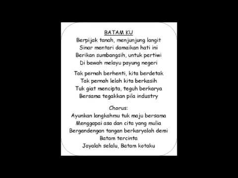 BATAM KU-ahmad dahlan lyrics (by fikri)
