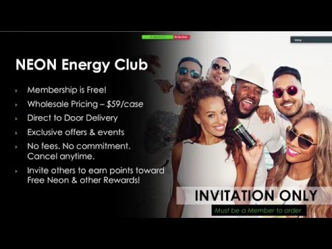France Neon Energy Drink (Neon Energy Club) Launch - Business Presentation