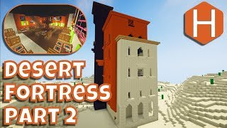 Desert Fortress Hotel Restaurant Part 2 Interior Minecraft Tutorial