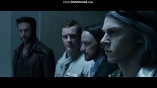 Ртуть спасает Магнето, Чарльза и Логана.Люди Икс:Дни минувшего будущего