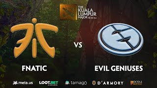 Fnatic vs Evil Geniuses Game 1 (BO3) | The Kuala Lumpur Major Lower Bracket R3