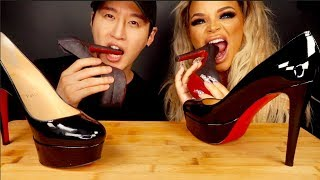 ASMR Edible High Heels Shoes with Zach Choi (No Talking)