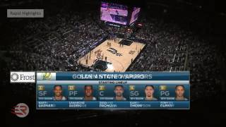 Spurs vs Warriors- Full Game Highlights | Game 1 | May 14