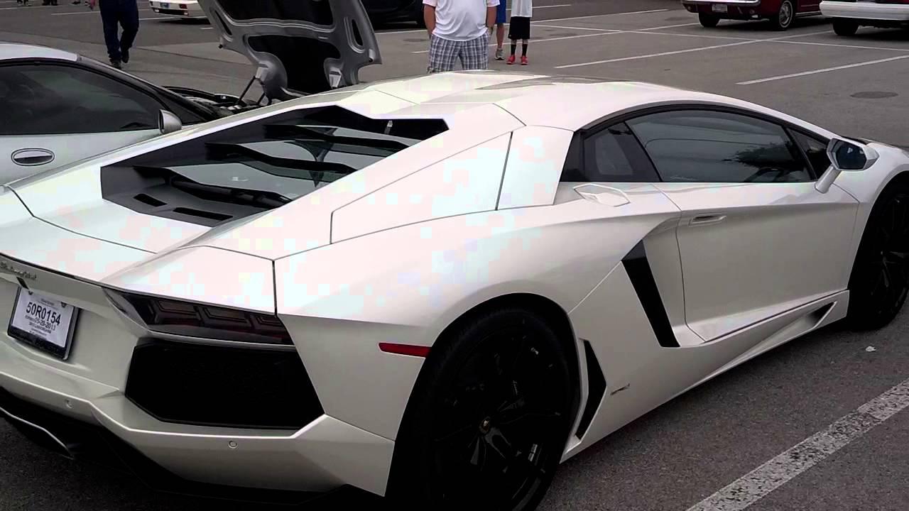 2013 Balloon White Lamborghini Aventador Startup Youtube