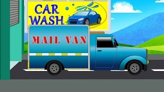 Mail Van Wash Video For Kids | Car Wash Videos | Videos For Baby & Toddlers