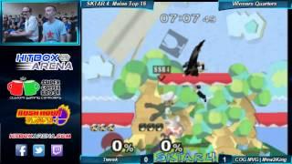 SKTAR 4 Melee Singles COG MVG Mew2King (Sheik, Marth) vs Tweek (Luigi) Winner