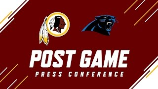 Redskins vs. Panthers QB Kirk Cousins Press Conference