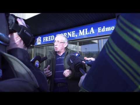 Seniors Occupy Alberta Health Minister's Office on Drug Plan