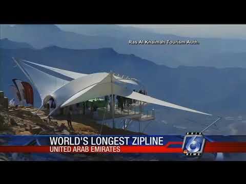 World's longest zipline opens in United Arab Emirates
