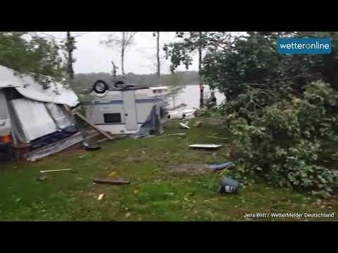 Sturm FABIENNE: Tornado in Thüringen? (24.09.2018) - YouTube