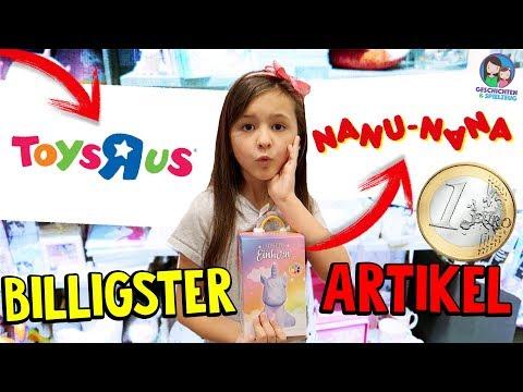 BILLIGSTES Produkt bei Toys 'R' Us & NanuNana CHALLENGE - Geschichten und Spielzeug