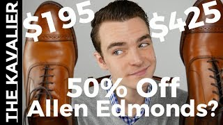 Are Allen Edmonds Factory Seconds Worth 50% off?