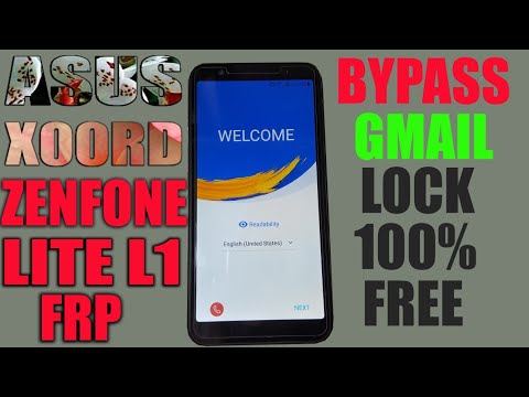 ASUS X00RD ZENFONE LITE L1 FRP WITHOUT PC