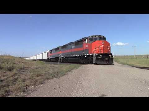 DMVW empty coal train northbound out of Bismarck, North Dakota