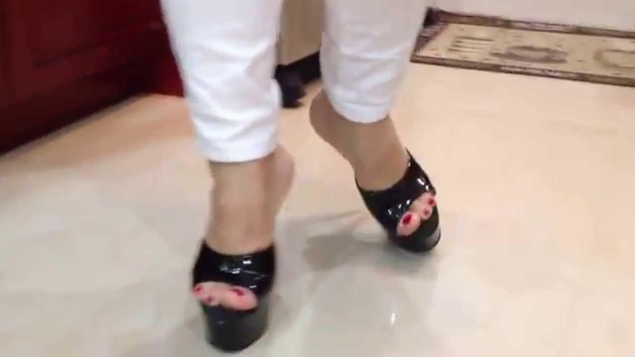Buy These Sexy Black Platform Fetish Mule High Heel Shoes
