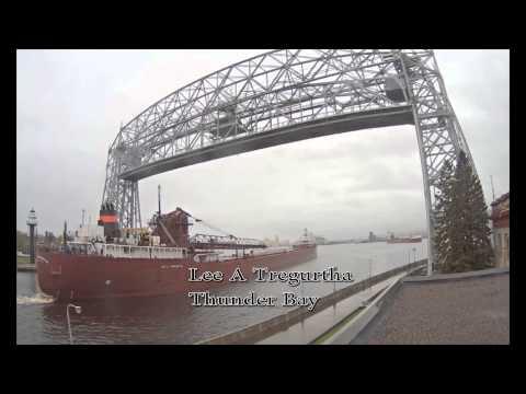 Lee A Tregurtha arrives, Thunder Bay departs Duluth 6/7/2014