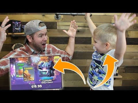 MY SON opens the SHOP OFFERS! Legendary King's Chest ROCKS! Clash Royale Insane